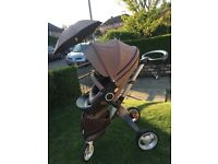 Stokke stroller and newborn