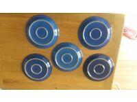 Denby blue white and Reflex salad plates