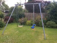 Kids Swing - TP Double Metal with double sky ride and single swing