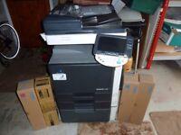 konica minolta bizhub C203 colour printer/scanner