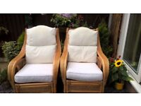 Conservatory/Summer house cane chairs x2