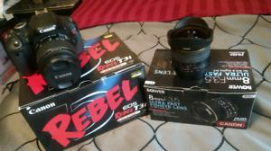 CANON REBEL T3i DSLR & BOWER 8mm Fisheye
