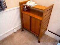 Teak Ladderax Telephone Cabinet