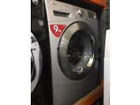 LG 9KG WASHING MACHINE SILVER RECONDITIONED