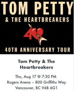 Tom Petty with the Lumineers Vancouver