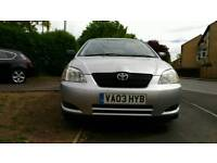 2003 Toyota Corolla 1.6 VVT-i T2 5dr 1 previous owner. Full service
