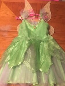 DISNEY Tinkerbell Dress Sz 10 with Wings