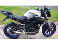 Yamaha MT125 Silver / Blue
