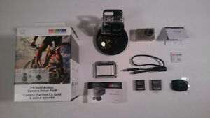 Activeon CX Gold Action Camera Value Pack