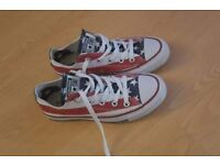 Stars & stripes converse size 4 worn once