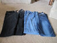 Boot cut Jeans size 8 four pairs good condition