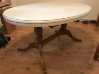 SOLD SUBJECT TO COLLECTION - OAK DINING TABLE - NEEDS GOING TODAY / TOMORROW