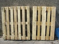 2 FREE WOODEN PALLETS CRAFTS WOOD BURNERS CLEAN AND DRY