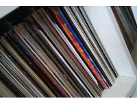 "large box of 12"" vinyl pop chart dance records"