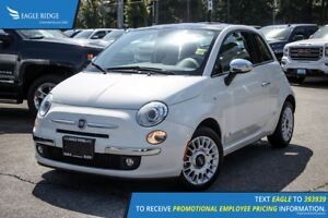 2012 Fiat 500 Lounge Sunroof and Satellite Radio