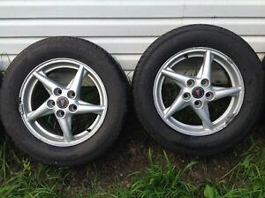 4 Pontiac Aluminium Rims with Tires