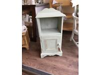 Painted bedside unit made from solid wood