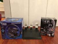 THRUSTMASTER T150 steering wheel + pedals T3PA + add on shifter TH8A
