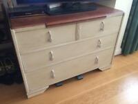 Shabby Chic distressed chest of drawers.