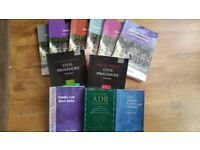 Law books, selection, crime, civil, family. Bar Course. £125