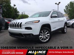 2016 Jeep Cherokee LIMITED 104$/SEM CUIR,NAVIGATION,TOIT,CAMERA