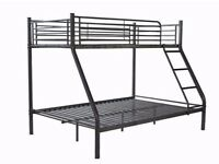SAME DAY DELIVERY -- Triple Metal Bunk Bed and Mattress Trio Sleeper - EXPRESS DELIVERY