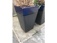 2 x Large Plant Pots (Ceramic)