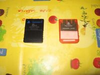 Sony PS2 - Set of two 8mb Memory Cards