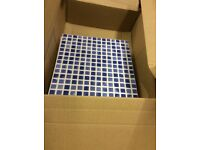 Selection of tiles for sale blue/white, yellow and blue