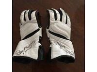 Ladies white leather gloves xs