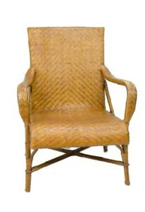 Wicker Chair by Crate and Barrel