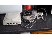 Sega Dreamcast with 2 Controllers and 3 games