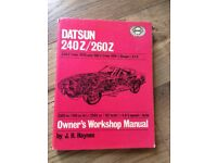 Haynes Datsun 240/260z Owners Workshop Manual