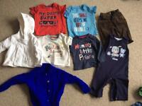 Baby boy clothes selection 3-6months