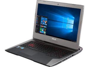 Asus rog G752vl gaming and media editing laptop 1200 or OBO