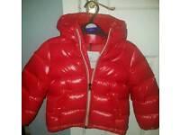 Children's red moncler coat
