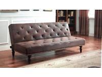 SLEEP DESIGN CHARLES BROWN VINTAGE STYLE SOFA BED - RRP £599