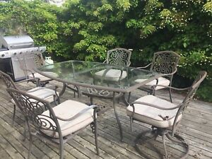 Patio set- table and 6 chairs
