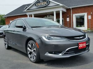 2016 Chrysler 200C C, Leather Heated Seats/Wheel, NAV, Pano Roof