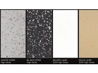 Wet wall panels bathroom shower kitchen wetwall mdf 120 colours and designs