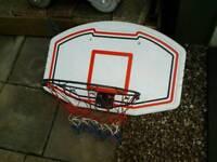 Basketball net and backboard full size