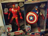 Marvel Avengers Iron Man and Captain America boxed Figures
