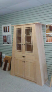 Curly Maple China Cabinet