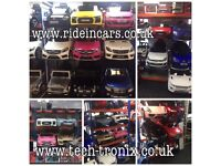 Open Today 12 till 8, Large Selection Of Ride-On Cars From £85 Scroll Through Pics