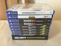9X PS4 GAMES - HORIZON ZERO DAWN / RESIDENT EVIL BIOHAZARD - BRAND NEW AND SEALED FOR PLAYSTATION 4