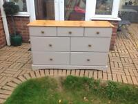 Large pine chest of drawers/sideboard
