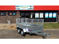 NEW TWIN AXLE TRAILER + MESH / LIVESTOCK TRAILERS /8X4 FT