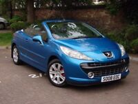 AA WARRANTY!!! 2008 PEUGEOT 207 CC 1.6 16v SPORT CONVERTIBLE 2dr, LONG MOT, FSH, ONLY 47000 MILES,