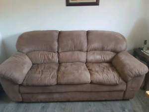 Microfiber couch and chair set