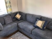 Grey corner sofa - fantastic condition